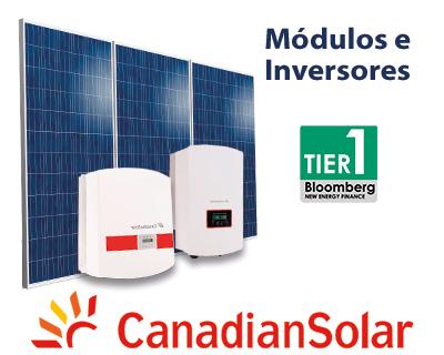 Módulos e Inversores Canadian Solar
